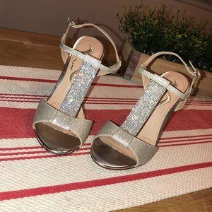 Nina Silver Diamond Evening Shoe